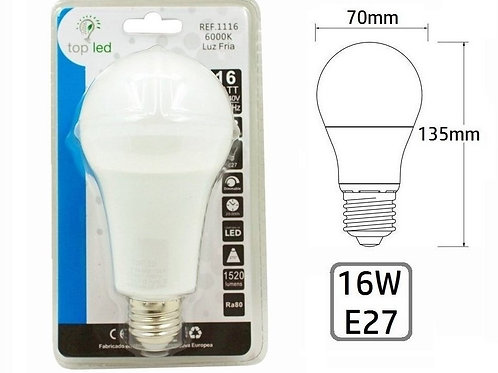 Bombilla led 16w E27
