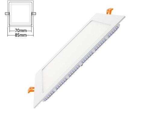 Downlight panel led cuadrado 3w
