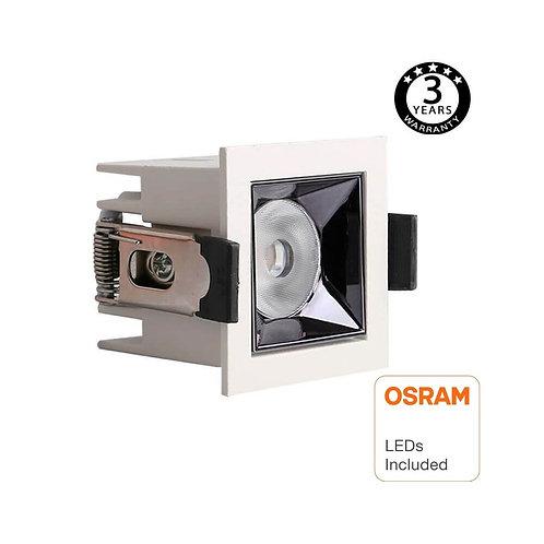 Empotrable LED 5W OSRAM Chip PALACE 24º UGR17 140lm/W