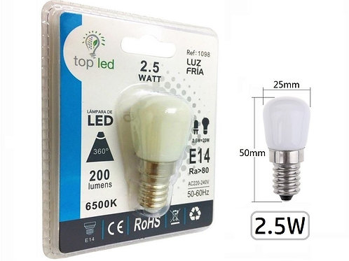 Bombilla led mini 2,5w E14