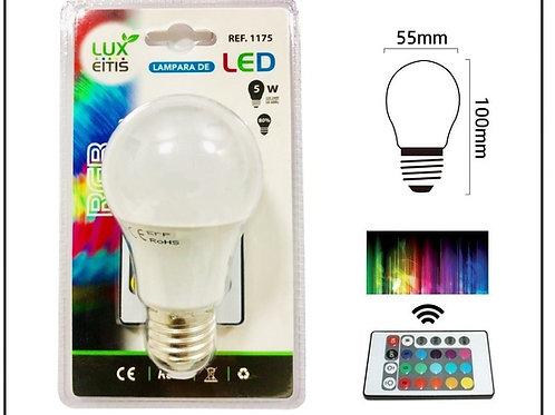 Bombilla led 5w RGB E27