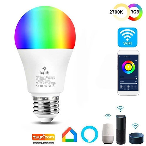 Bombilla LED 10W SMART Wifi RGB+CCT - A60 Regulable - E27