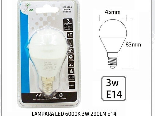 Bombilla led  3w E14