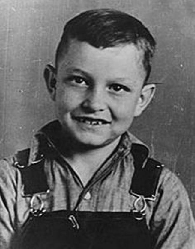 J.R. Cash (Johnny Cash) as a child