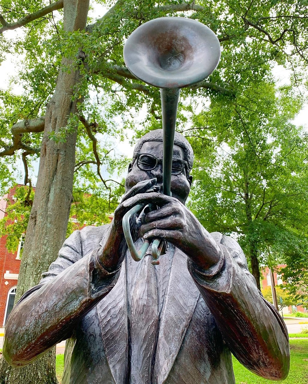 Dizzy Gillespie Statue in Cheraw, South Carolina
