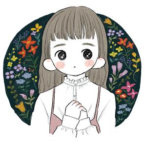 刺繍風カラフル花2