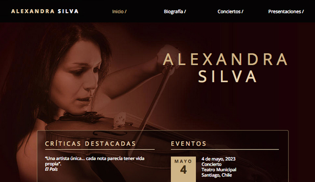 Eventos website templates – Música clásica