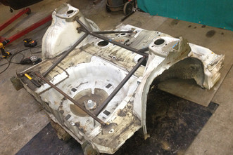 Rear subframe removed