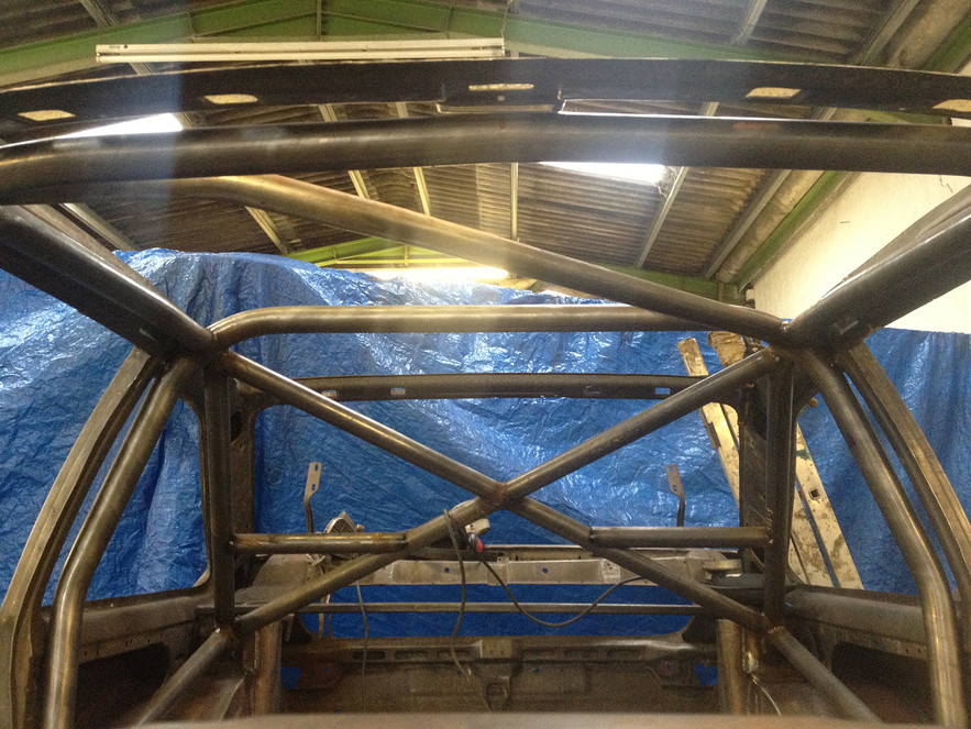 Roll cage being added