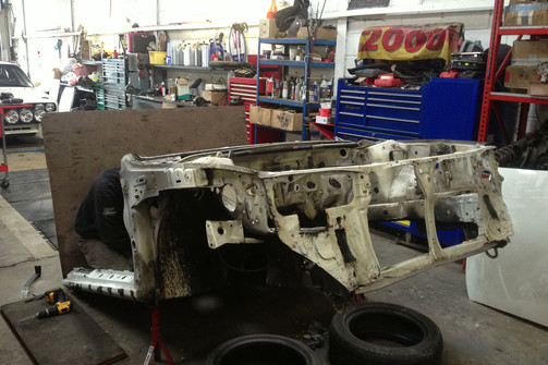 Front sub frame removed