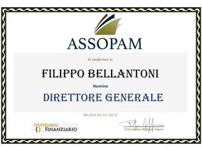 Filippo Bellantoni nuovo Direttore Generale e Componente del Direttivo Assopam.