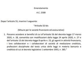 Assopam: presentato emendamento per l'accesso al Fondo Centrale di Garanzia degli iscritti OAM