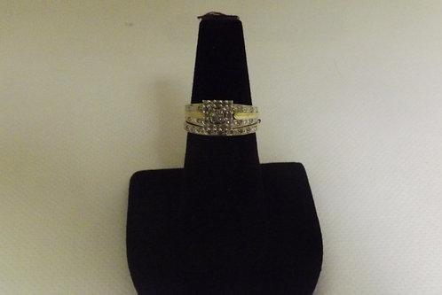 14K Gold Wedding Set Size 7 (Used)