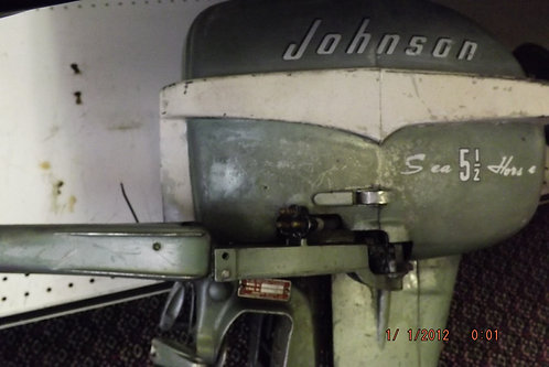 Vintage Johnson outboard motor runs good