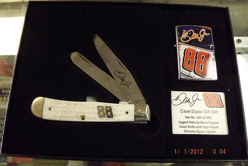 Dale Earnhardt Jr. zippo and case knife gift set