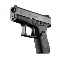 New Glock 380 Model 42 Slimline Black or Brown