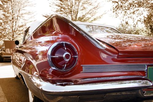 Red classic car - 69 camaro air bag suspension