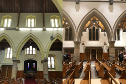 Bathurst Cathedral Arches Before After