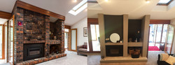 Jeanette fireplace Before After