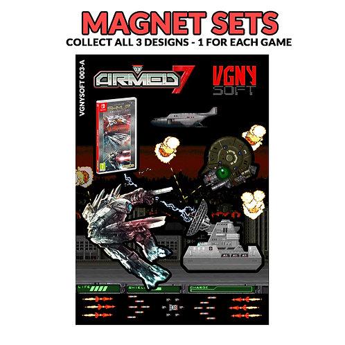 SHMUP COLLECTION - ARMED SEVEN Magnet Set
