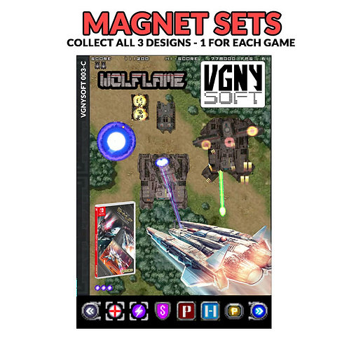 SHMUP COLLECTION - WOLFLAME Magnet Set
