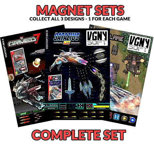 SHMUP COLLECTION - Complete Magnet Set