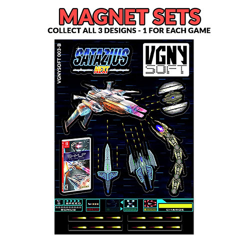 SHMUP COLLECTION - SATAZIUS Magnet Set