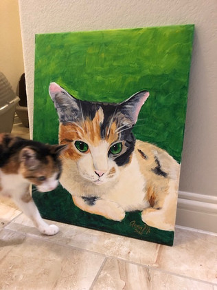 """My """"Paint your Pet"""" Painting"""
