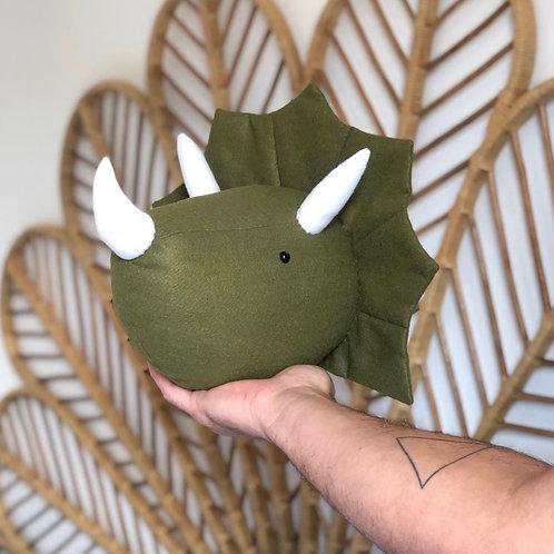 Cabeça de Parede Dino Tricerátops - pronta entrega
