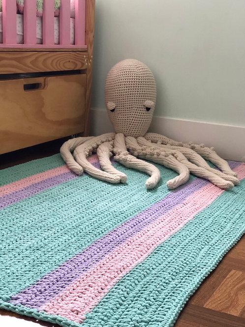 Tapete de crochet retangular