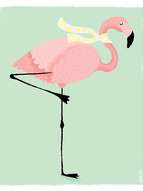 Poster Flamingo Echarpe