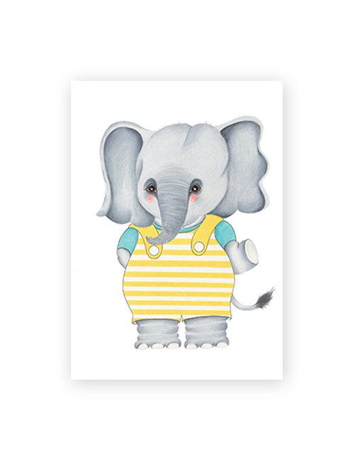 Poster Elefante Olaf A5
