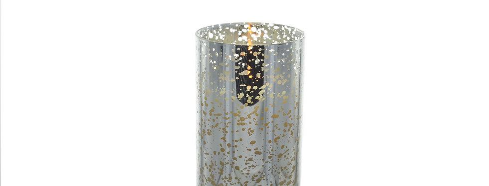 bougie led luminara mercurisée argent 18cm