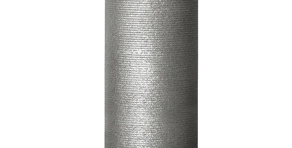Bougie LED LUMINARA en cire Argentée 8x23cm