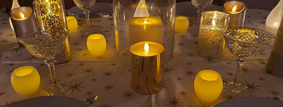 Pack Déco Noël GOLD 24 bougies