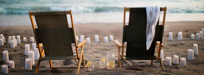 Bougies sur plage