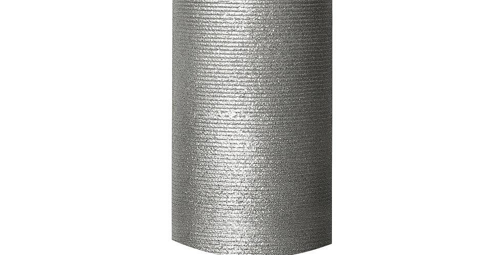 Bougie LED LUMINARA en cire Argentée 8x18cm