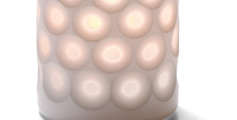 Photophore porcelaine dots Hollowick