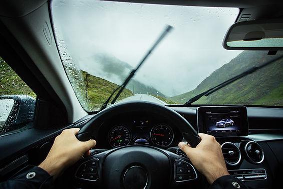 Visualização do painel do carro