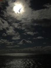 Moonight over the Caribbean