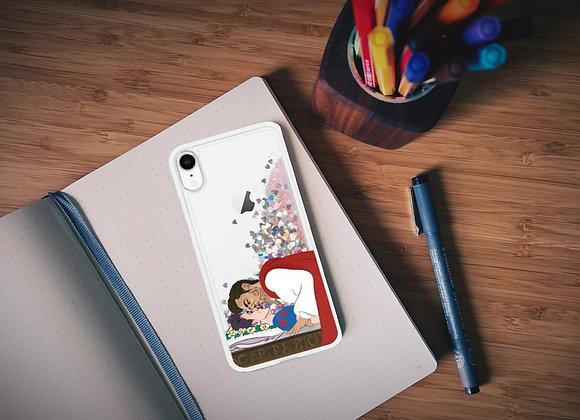 Enchanted K-Apple Liquid Glitter Phone Case