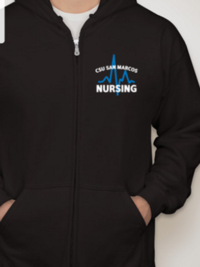 Black Full Zip Hooded Sweatshirt