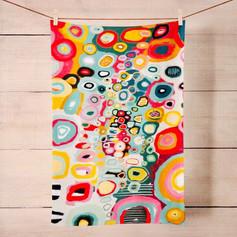 Carnival of FlowersTea Towel