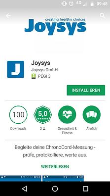 Installation Joysys App