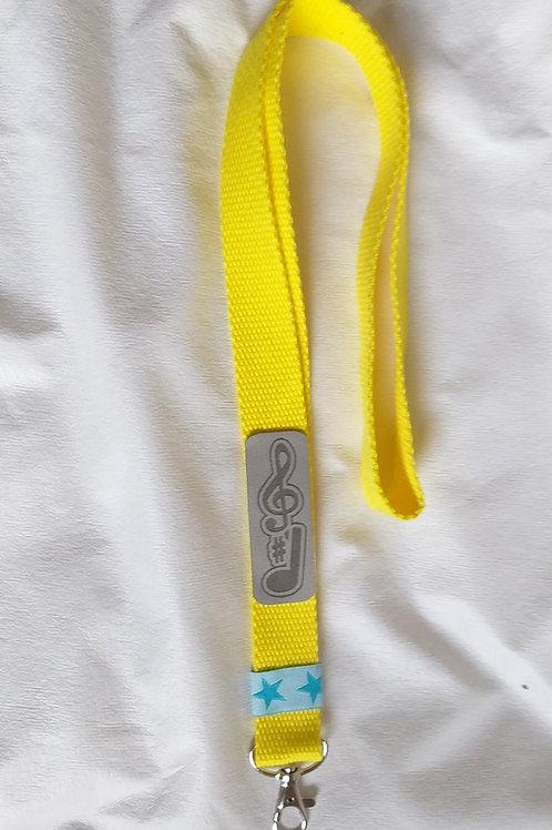 """Schlüsselband """"Calma"""" (gelb) zum Umhängen mit Musikmotiv"""