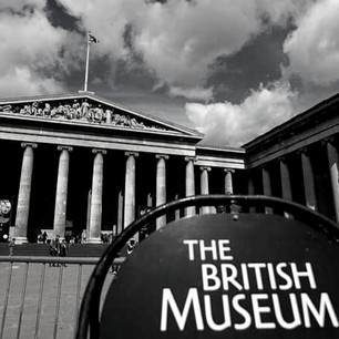 Black And White Noise of the British Museum