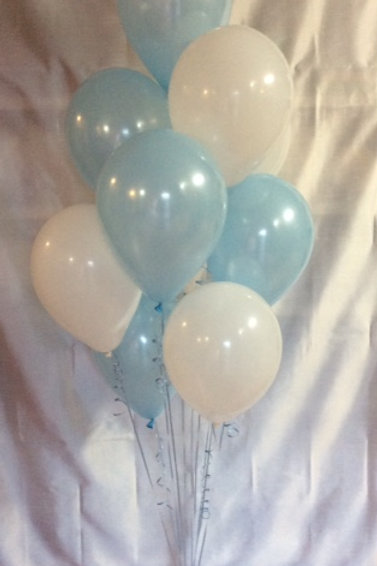 10 Balloons on a weight