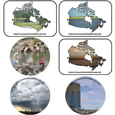 Canada Water Decade Coasters
