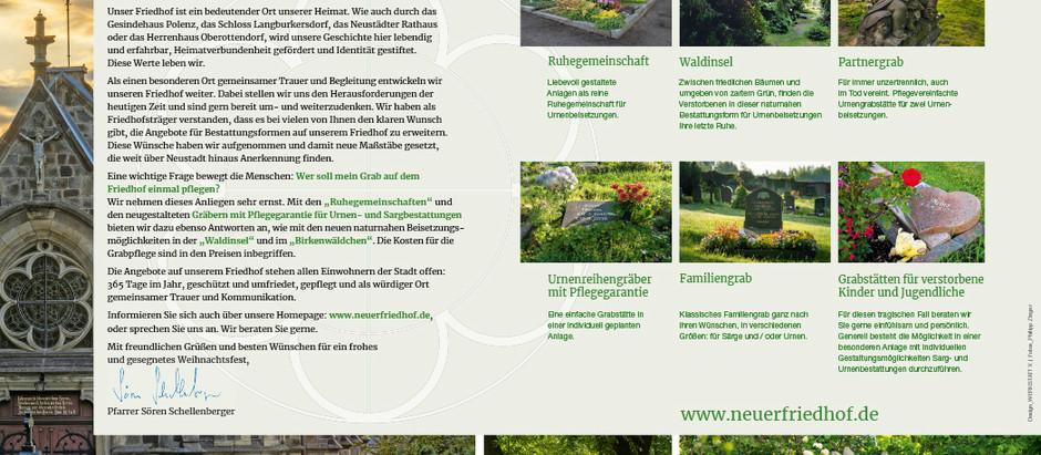 Aufruf vom Neuen Friedhof im Neustädter Stadtanzeiger