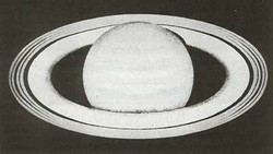 Early sketch of Saturn